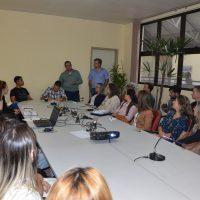 Reitor a vice-reitor falam na primeira reunião do Coplan
