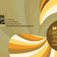 cartaz com ilustrações e informações sobre a semana dos museus