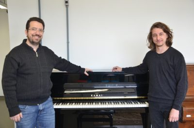 Orientador Germano Mayer e aluno Guilherme Pelliccioli