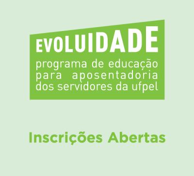 Cartaz com o nome do programa e informação de inscrições abertas.