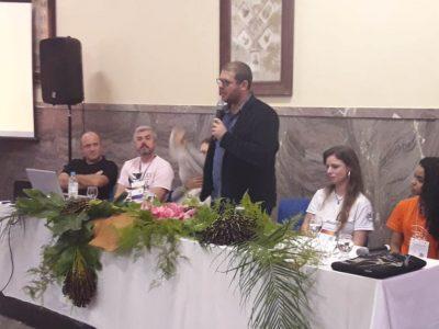 Reitor fala durante o encerramento do evento