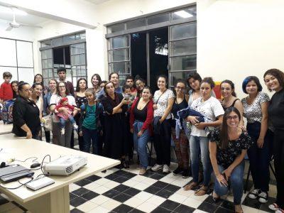 Grupo na primeira reunião da Política de Mães da UFPel