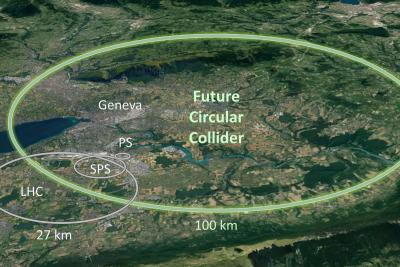 Foto de satélite mostra proporção do futuro acelerador