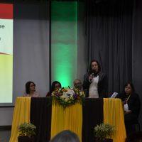 Pró-reitora da UFPel fala na abertura do encontro
