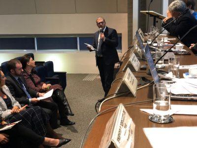 Reitor Pedro Hallal discursa durante audiência