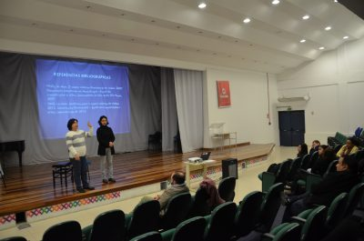 Palestrantes no evento
