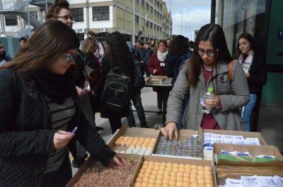 alunas escolhem doces