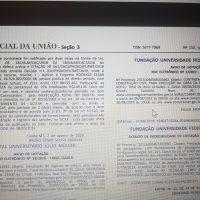 Foto do Diário Oficial da União com a licitação.