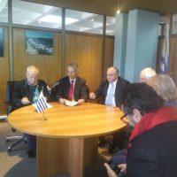 Diretores da UFPel na reunião no Uruguai