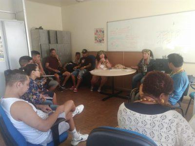 reunião com alunos