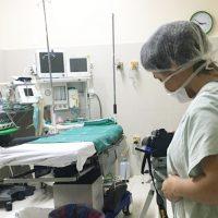 estagiários do cinema gravam imagens no Hospital